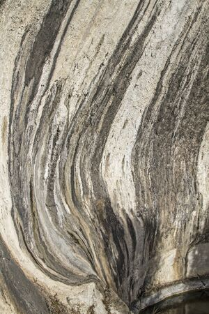 pothole: Detail of a glacial pothole  at Nago in Trentino Stock Photo