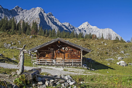 quencher: Rustic fountain of Ladizalm in Karwendel mountains