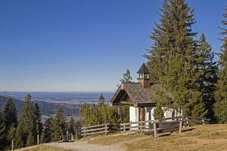 piety: Small mountain chapel at the Tegernsee Alps in Neureuth