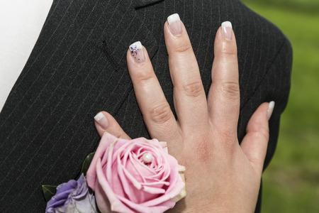 wedding bride: Wedding Button - an essential accessory of the groom