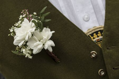 solemnity: Wedding Button - an essential accessory of the groom