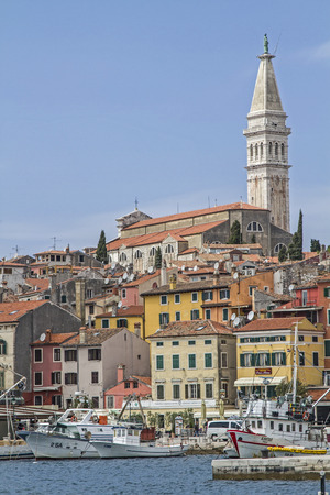 adria: Rovinj idyllic Croatian town picturesquely situated on a peninsula Editorial