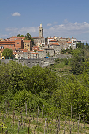 the east coast: The old mining town of Labin near the Istrian east coast situated on a hill