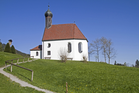 piety: Pest chapel in Upper Bavarian Wackersberg in Bad Toelz