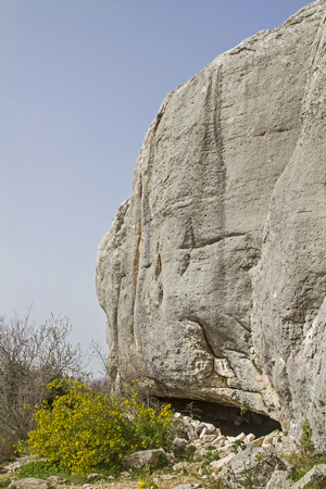 the crags: Climbing area Dvigad in spring
