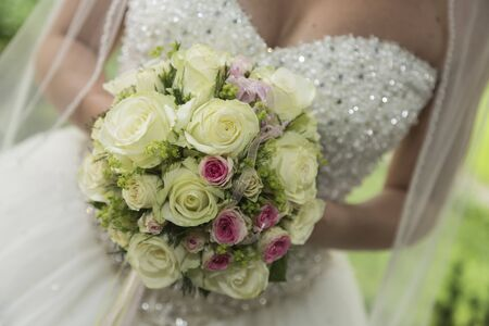 bridal bouquet: Indispensable accessory for any bride - the bridal bouquet Stock Photo