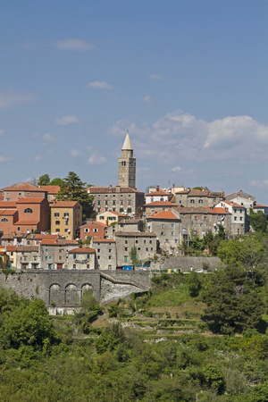 the east coast: The old mining town of Labin situated on a hill near the Istrian east coast