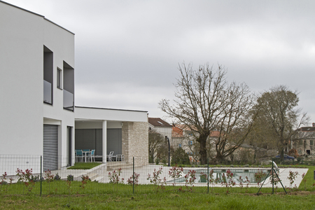 Newly Built Modern House in the inside of the Istrian peninsula, Stockfoto