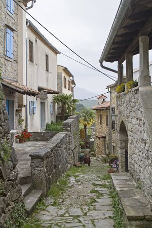 hum: Idyllic alley in Hum, which is also known as the smallest city in the world