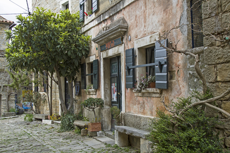 town idyll: Idyllic place in Groznjan in Central Istria