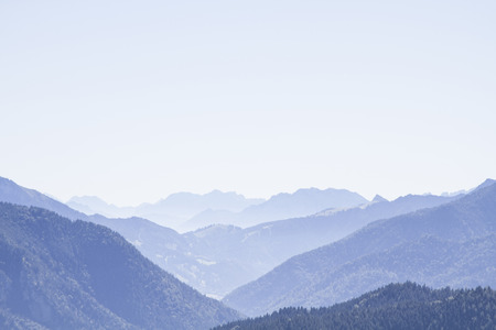 Wendelstein and Breitenstein - familiar mountain peaks in the Mangfall mountains Banco de Imagens