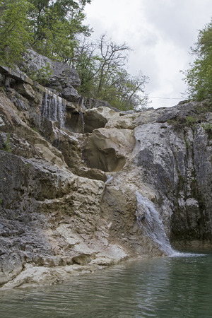 Waterfall in Kotli, a small hamlet on the upper reaches of Mrna
