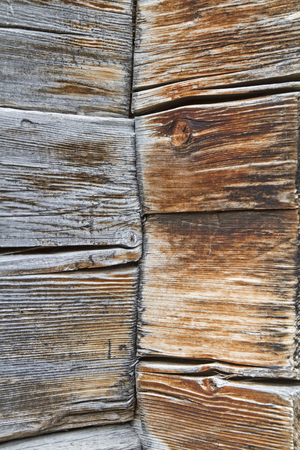 mountain hut: Background image - Weathered wooden beams at an old South Tyrolean mountain hut