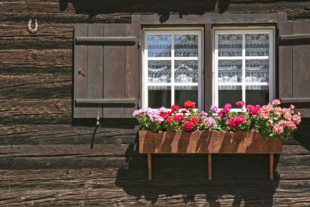 lovingly: The old Walser houses, in the Val Formazza, which are some 200 years and older, have been lovingly restored and used by the Italians as a weekend home. Stock Photo