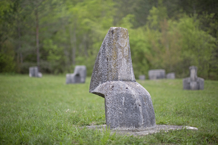 The Glagolitic Avenue is a monument to the Glagolitsa, the oldest Slavic script. And leads over 6 km from Roč to Hum in Istria Stock Photo - 68617415