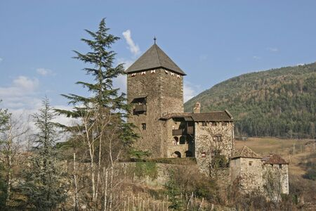 The splendid castle of Branzoli surpasses the medieval town of Klausen in South Tyrol