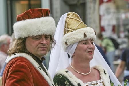 landshut: Landshuter Hochzeit - a historical event, which is regularly performed in the Lower Bavarian town of Landshut and reminds you of the glorious wedding of the Dukes son and a Polish royal daughter in 1475 Editorial