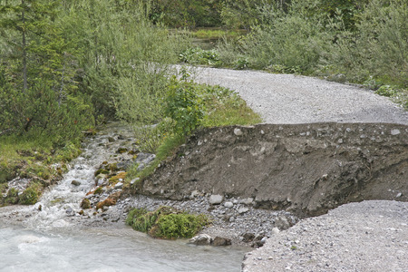 interruption: Road interruption - consequences of a flood disaster