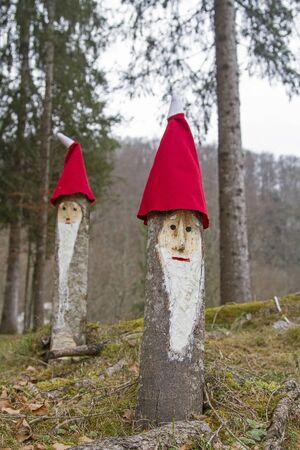 Self-tufted forest dwarfs embellish the dwarf forest Stock Photo