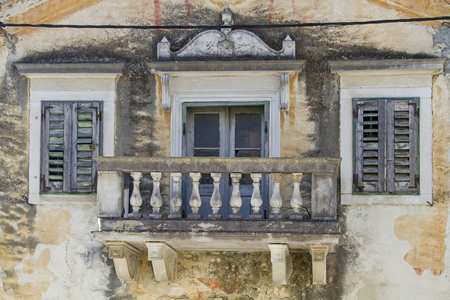 Detailed view of a magnificent villa in the small village Sovinjak in Istria