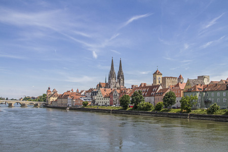 The Regensburg Cathedral St. Peter is the landmark of the city of Regensburg
