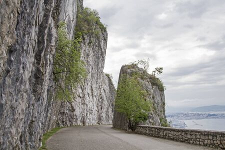 The Belvedere climbing garden is located on a beautiful panoramic road high above Trieste