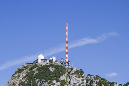 On the Wendelstein summit the mountain idyll suffers from the all-pervasive infrastructure buildings