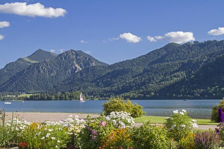 Schliersee - a popular holiday resort with a lake of the same name in Upper Bavaria Stock Photo