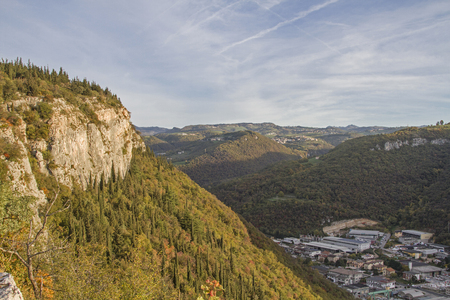 The popular climbing area Stallavena is located in the Monti Lessini just a few kilometers north of Verona