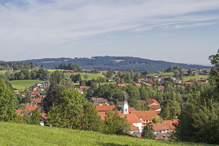 Bad Kohlgrub in Upper Bavaria is the highest-moor spa in Germany 스톡 콘텐츠