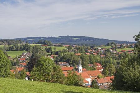 Bad Kohlgrub in Upper Bavaria is the highest-moor spa in Germany Standard-Bild