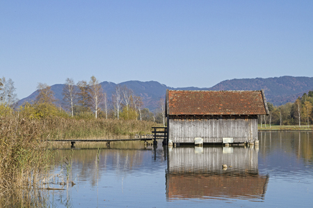 Boathouse on the northern shore of Lake Kochel, not far from Schlehdorf