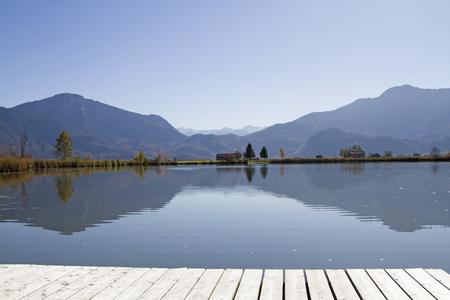 The lake Eichsee is an idyllic bog lake in the Kochel Moor in Upper Bavaria