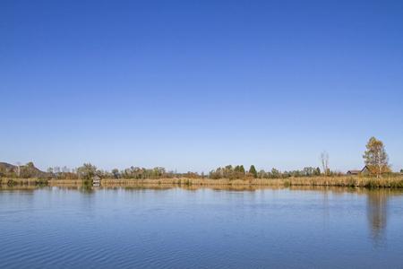 The Eichsee is an idyllic bog lake in the Kochel Moor in Upper Bavaria Stok Fotoğraf