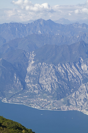 The magnificent view of Lake Garda is the reward for the strenuous ascent to Monte Altissimo