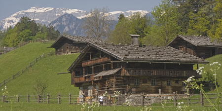 Old traditional farm in the Inn valley in Tyrol