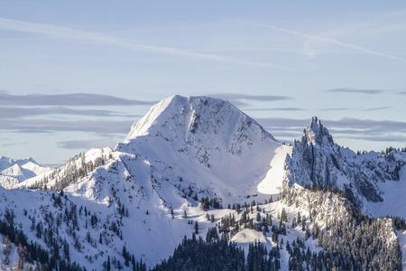 View from Roßkopf - Plankenstein and Risserkogel in winter Standard-Bild - 96709755