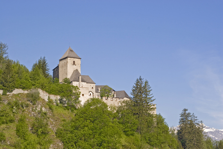 medieval fortress Reifenstein in South Tyrol on a hill south of Vipiteno Editorial