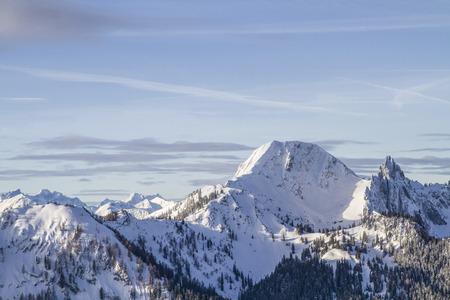 View from Roßkopf - Plankenstein and Risserkogel in winter Standard-Bild - 97148780