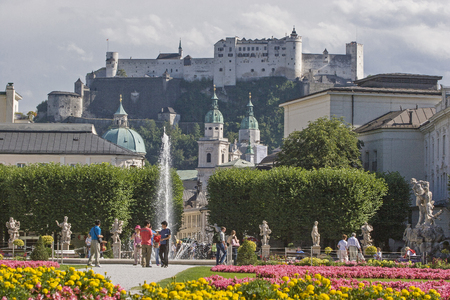 From the magnificent Mirabell Park you can enjoy the view of the cathedral and the mighty fortress of the city of Salzburg