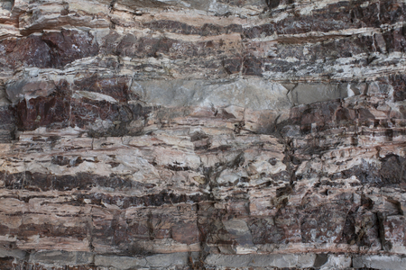 Different patterns and colors fascinate on this rock face