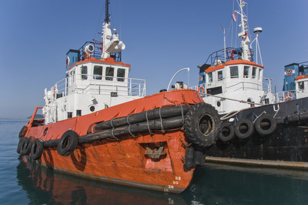 Heavy laborers of the seas - tugboats in the port of Split