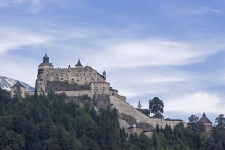 The Hohenwerfen Fortress is a medieval hill fort in the Salzburg  Land in Austria