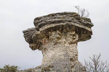 Strangely shaped rock shape near Albaredo in Veneto