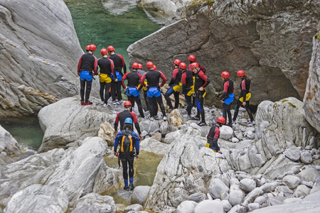 Adventure Sport Canyoning - Going down a gorge from top to bottom in many different variations. By climbing, jumping, sliding, swimming and sometimes even diving you can get through the gorge.
