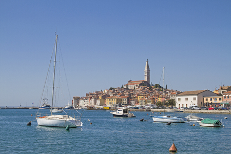 Rovinj, idyllic Croatian town which lies picturesquely on a peninsula