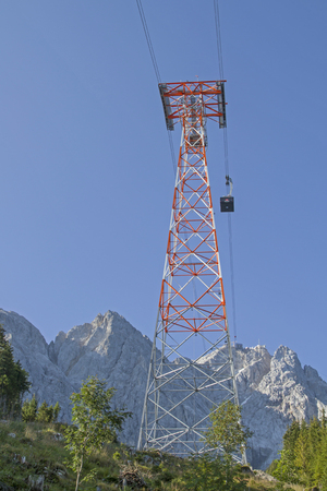 With the newly built cable car to the Zugspitze, the highest point in Germany Фото со стока
