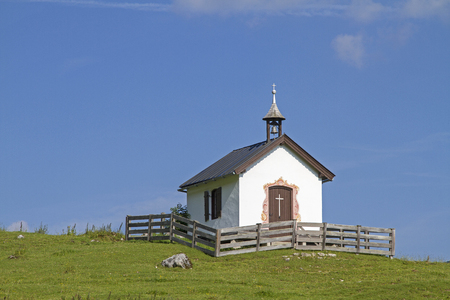 Small chapel at the Grabenbergalm in the Tyrolean part of the Mangfall mountains