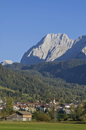 Ehrwald is the main town in the popular tourist area Zugspitz arena and is decorative in front of the mighty Mieming mountains