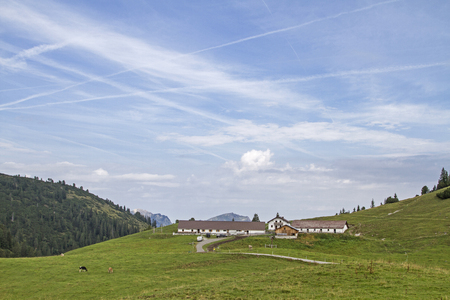 A popular hiking and mountain biking destination is the Raazalpe in the Lechtal Alps 写真素材